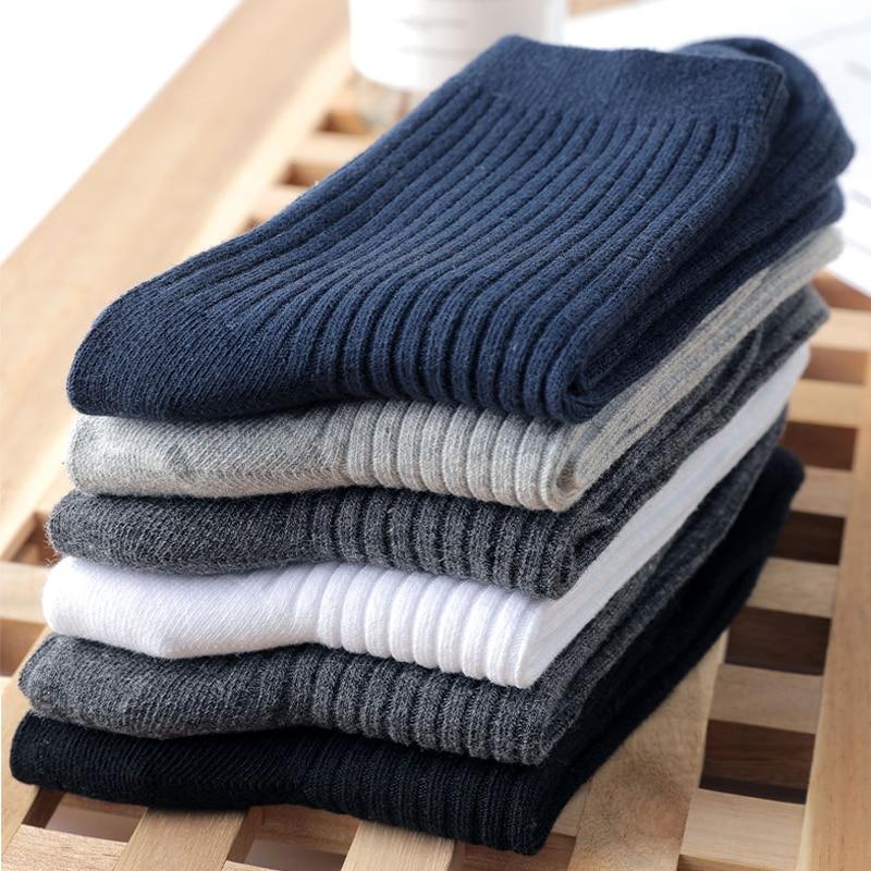 HSS Brand 2019 New 100 Pure Cotton Men Socks Casual Business Stripe Deodorant Breathable Man Travel Winter Sock 5 Pairs Lot in Men 39 s Socks from Underwear amp Sleepwears