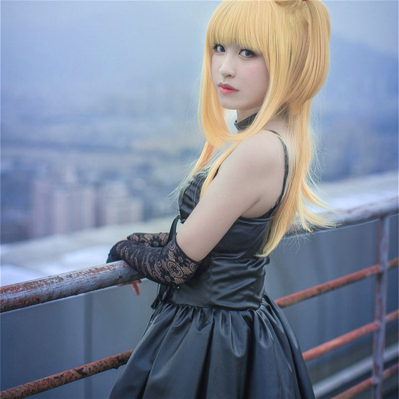 Anime Death Note Cosplay Misa Amane Imitation Leather Dress Sexy Uniform Cosplay Costumes With Gloves And Socks And Necklace
