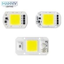 COB LED Chip 20W 30W 50W LED Light Beads Smart IC No Need Driver 220V LED Bulb Lamp DIY for Outdoor LED Spotlight Floodlight