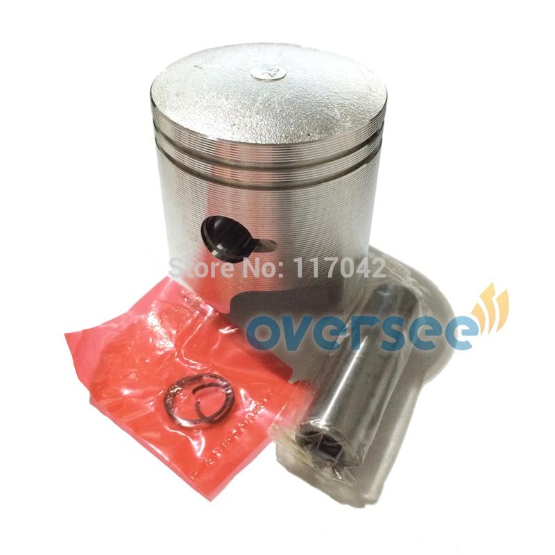 12100-93120-025 Piston Set +025 Case For Suzuki 15HP DT15 Outboard Motor Two Stroke
