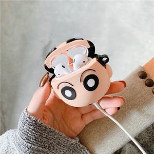 Image 3 - 3D Leuke Japan Cartoon Chi Bi Maruko Crayon Shin Chan Oortelefoon Cases Voor Apple Airpods 1 2 Siliconen bescherming Cover