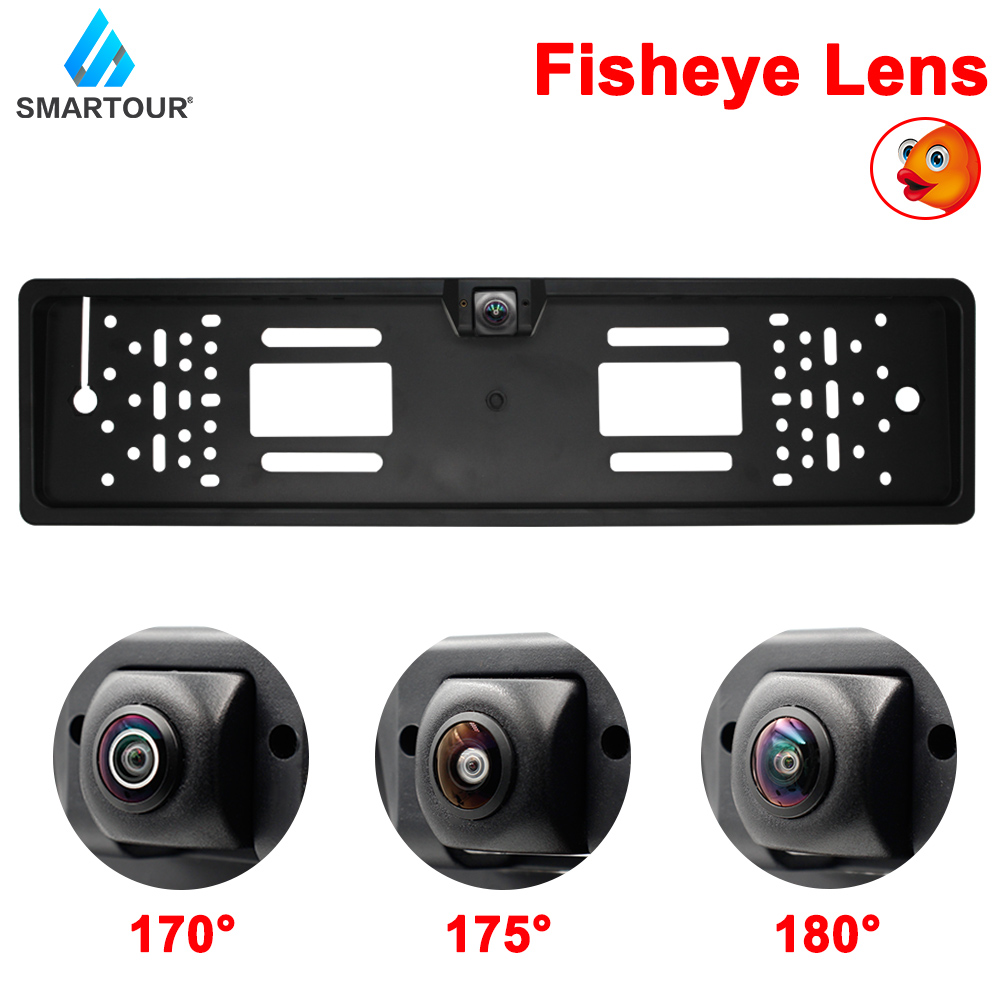 European Car Number License Plate Frame Rear View Camera Fisheye Night Vision Reverse Backup Parking RearView Cam Auto Accessory