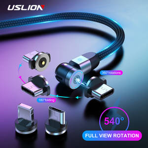 USLION 2020 NEW Magnetic Cable Micro USB Cable USB Type C Fast Magnetic Charge For iPhone 11 Samsung Huawei USB C Charging Wire