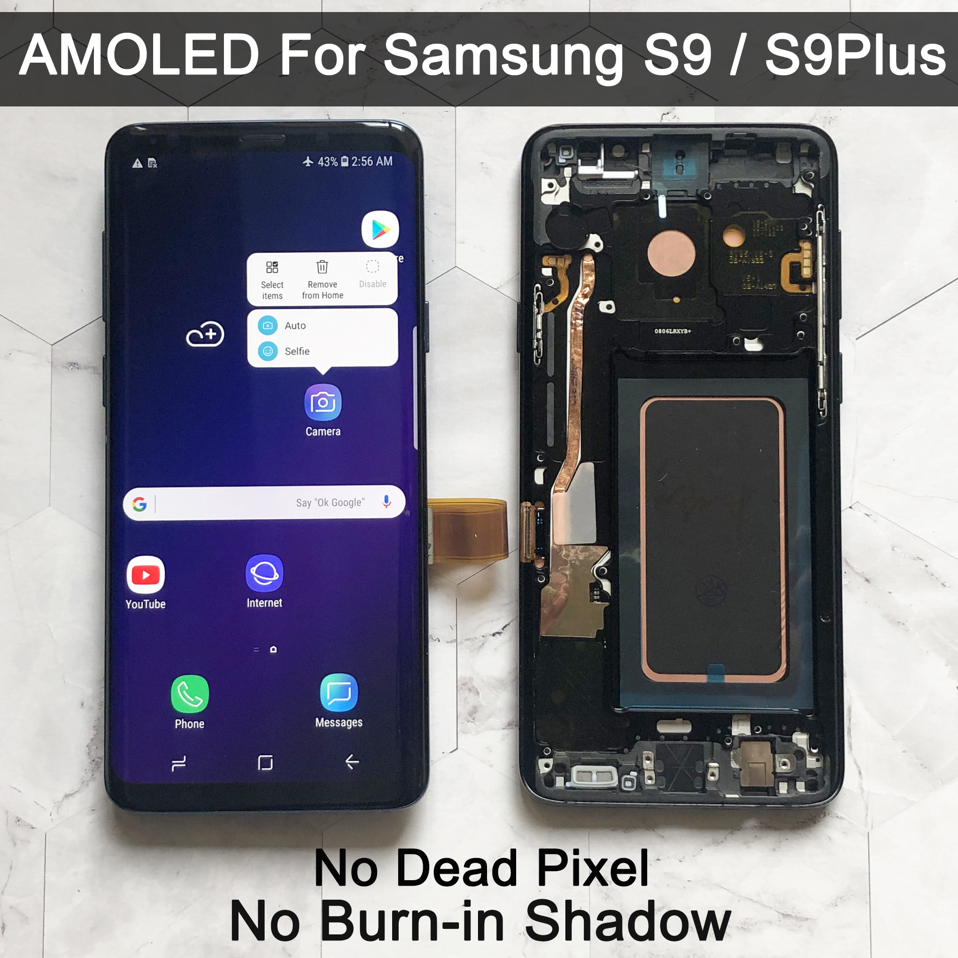 ORIGINAL AMOLED Replacement For SAMSUNG Galaxy S9 G960 S9+ G965 LCD Display Touch Screen Digitizer With Frame S9 Plus Lcd