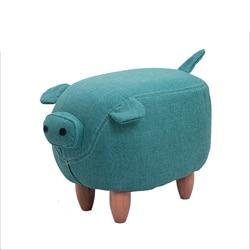 Stołek z litego drewna kreatywny hippo buty ławka sofa stołek projektant meble taboret do przechowywania buty testowe przechowywanie stołek