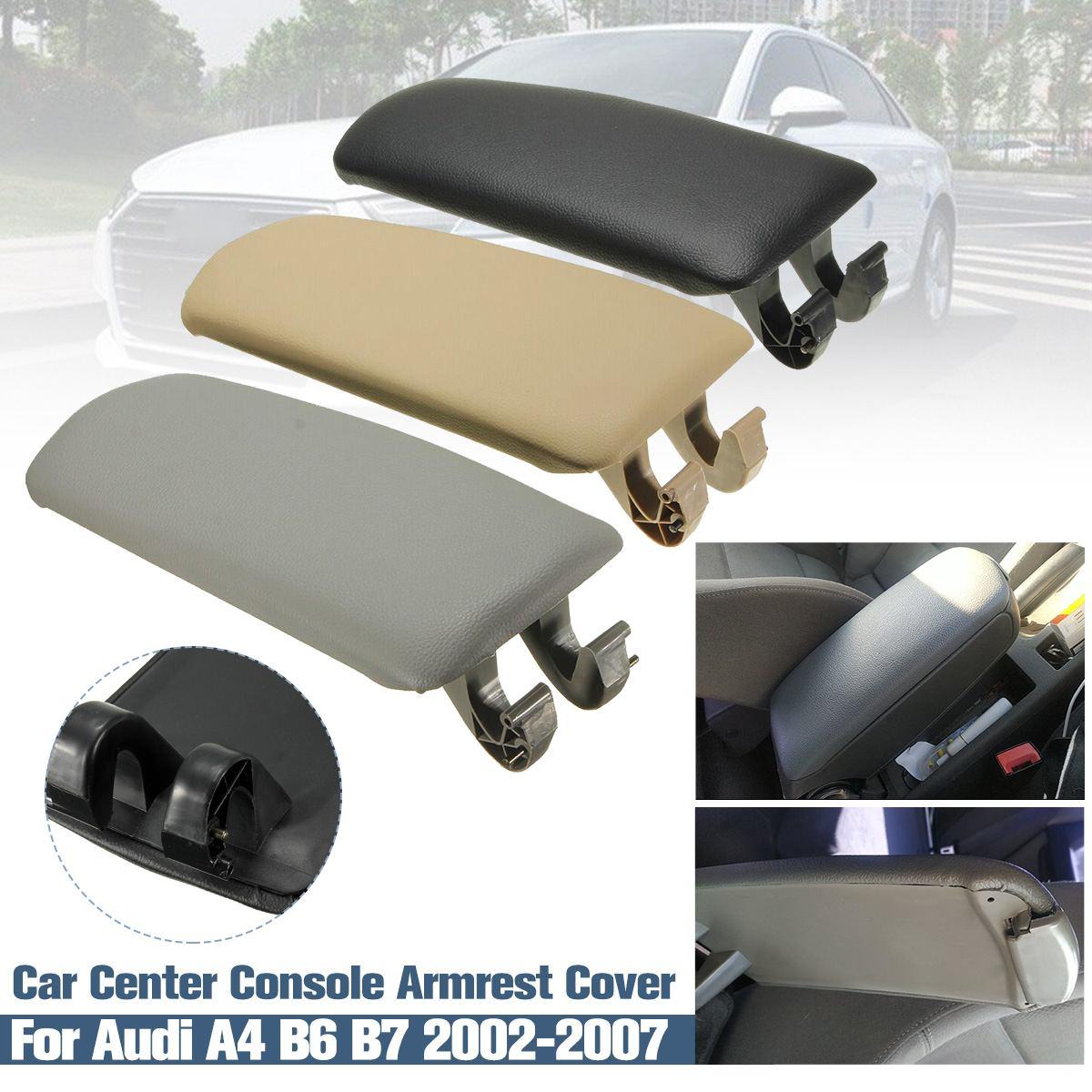 Кожаная Автомобильная центральная консоль, подлокотник, крышка для подлокотника, коробка для хранения, крышка для Audi A4 B6 B7 2002 2003 2004 2005 2006 2007 Подлокотники      АлиЭкспресс