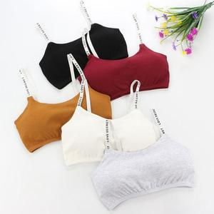 2020 Full Cup Thin Underwear Small Bra Plus Size Wireless Adjustable English Letter Sling Wrapped Chest Seamless Beauty Tube Top