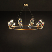 Chandelier-Lighting Crystal Luminaire Lampen Postmodern Lustre-Suspension Dinning-Room