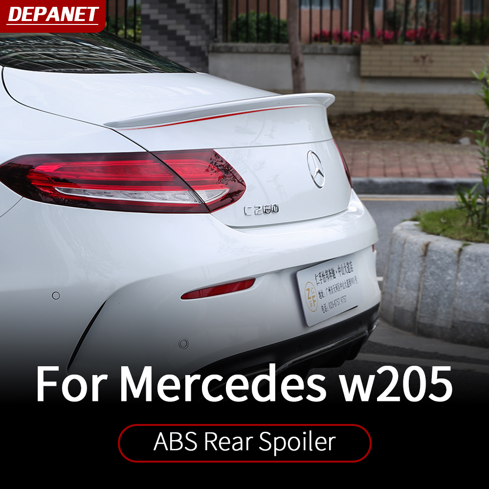 ABS plastic <font><b>spoiler</b></font> For Mercedes <font><b>w205</b></font> amg coupe / interior trim c63 mercedes c class accessories <font><b>w205</b></font> Mercedes amg coupe image