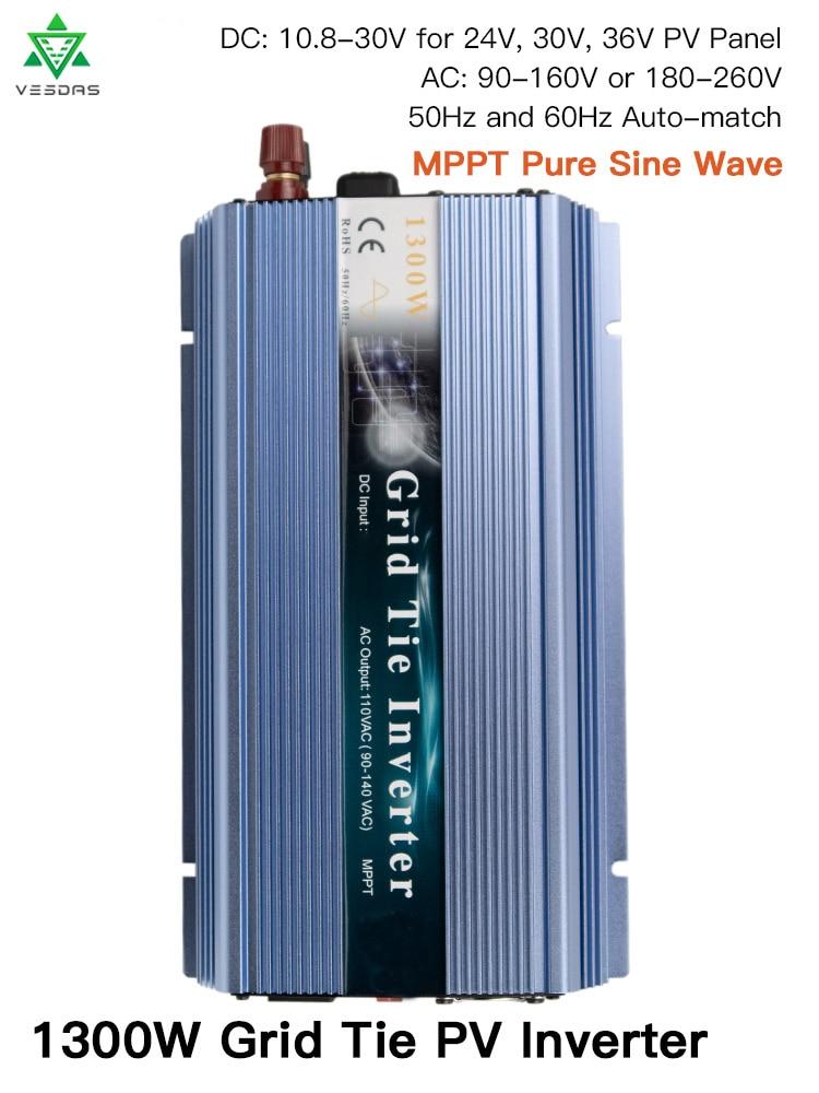 inversor de rede gti1300 micro inversor de rede de 1300w inversor solar de onda senoidal pura