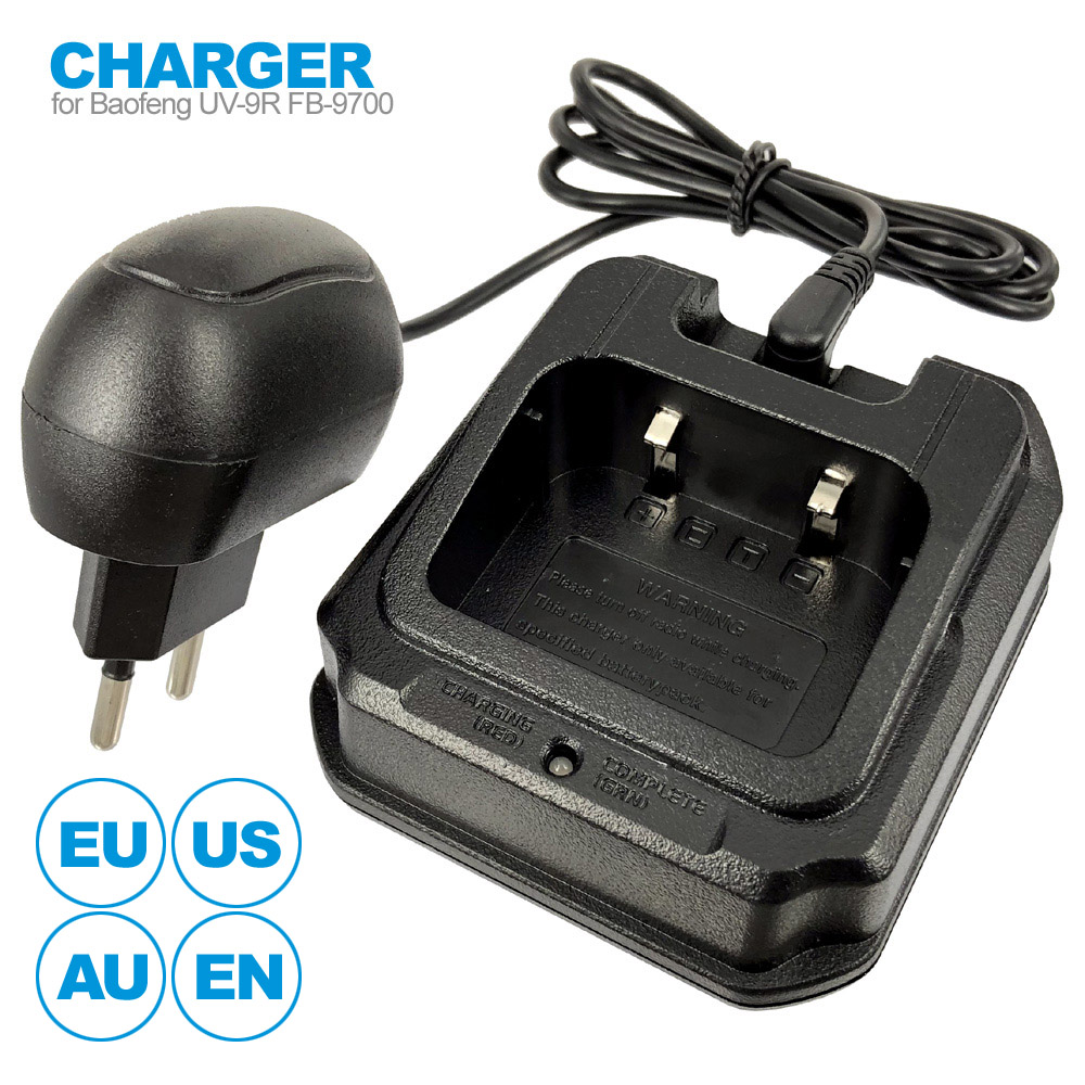 CHR-9700 AC Charger Power Adapter For BaoFeng BF-9700 UV-9R Plus BF-A58 UV-XR A-58 GT-3WP UV-5S Two Way Radio Walkie Talkie
