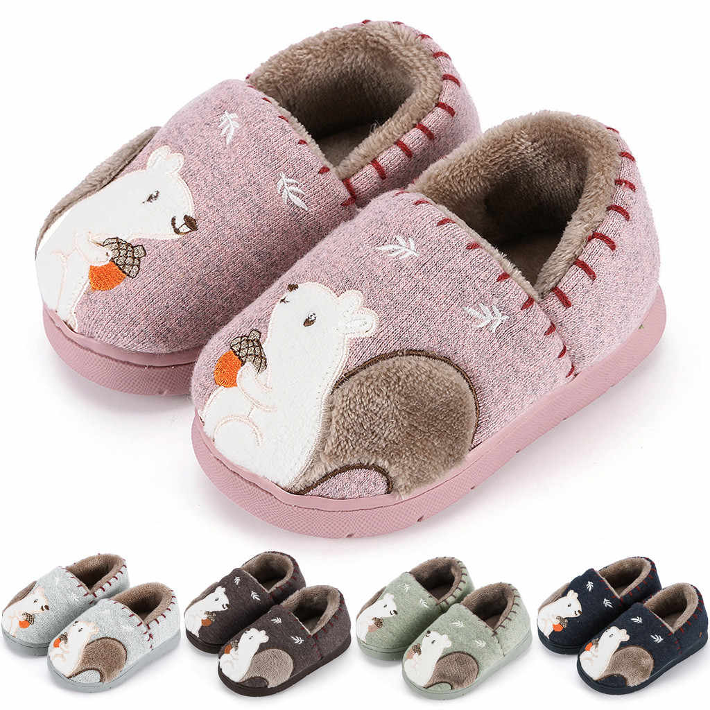 Toddler Boys Girls Fashion Shoes Warm Cute Animal Kid Home Slipper baby girls princess shoes Girls Soft Anti-slip Shoes 2020