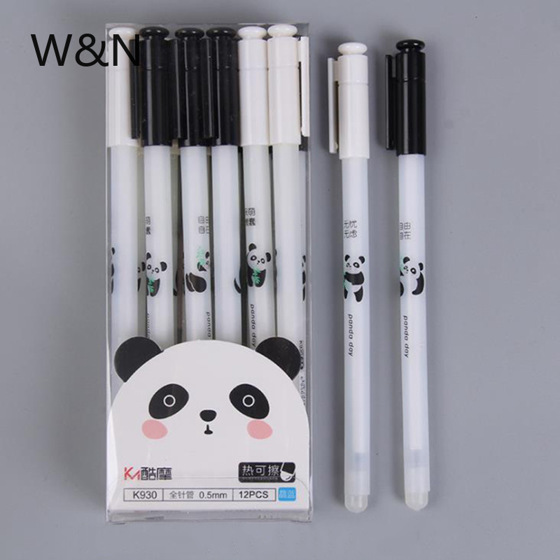3Pcs/Set Cute Panda Erasable Pen 0.5mm Blue Ink Magic Gel Pen For School Office Writing Supply Kawaii Exam Spare Stationery