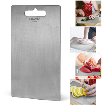 Lixada 1.8MM Thick Titanium Cutting Board for Home Kitchen Cooking Outdoor Chopping board kneading board Camping Cookware 2