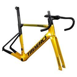 ¡Novedad de 2020! Icanbikes carbono T800 bicicleta de carretera Marco de freno de disco de montaje plano con frente 100x12mm trasero 142x12mm 700x28C neumático máximo