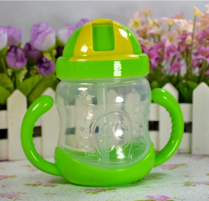 Children Cup With Straw With Handle Baby Cup Leakproof Baby Sippy Cup Kids Drink Glass