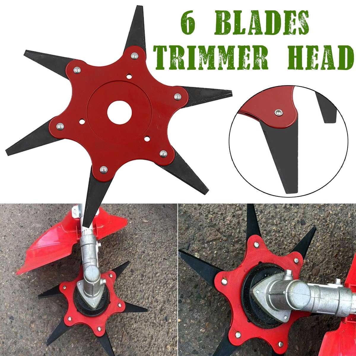 70mm Upgrade 6 Teeth Blade Trimmer Head 65Mn Steel Outdoor Lawn Mower Grass Brush Cutter Trimmer Head Razors Power Tool Parts