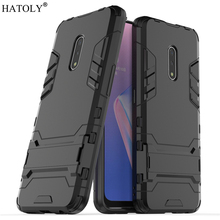 For OPPO Realme X Case Rubber Robot Armor Protective Shell Hard PC Back Phone Cover for
