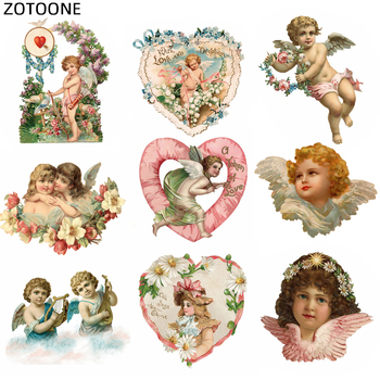 ZOTOONE Iron onTransfer Angel Patches for Dress Heat Transfers Stickers A-level Washable Iron-on Clothes Appliques Coats