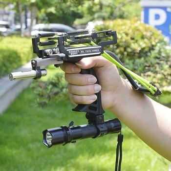 Hot Sale High Quality Laser Black Red Hunting Slingshot Fishing Slingshot Fishing Bow Outdoor Powerful Slingshot 2020New 5