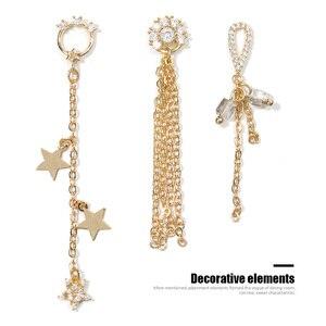 2 шт. 3D металлические циркониевые украшения для дизайна ногтей японские украшения для ногтей высокое качество циркониевые хрустальные маникюрные циркониевые алмазные подвески