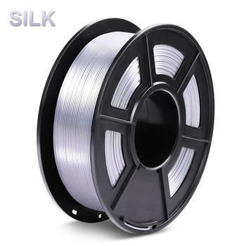 Błyszcząca srebrna drukarka PLA 3D Filament Silk 1 75mm 1KG 2 2LBS szpula szeroko kompatybilny druk 3D metal srebrny uczucie tanie i dobre opinie 3D Warhorse Stałe Silk PLA Filament + -0 02mm 30-60mm s 190-220 degree 14 colors 100 no bubble Non-toxic degradable low shrinkage