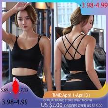 Women Sports Bra Tops Backless Fitness Yoga Running Sports Bra Breathable Sexy Crop Top SportsWear Yoga Tops Sports Push Up Bra цена и фото