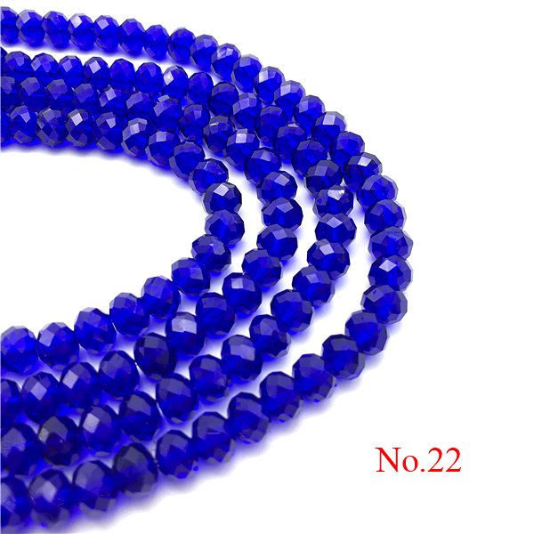 3x4 мм/4x6 мм/6x8 мм Хрустальные Круглые граненые стеклянные бусины для самостоятельного изготовления ювелирных изделий Аксессуары для ювелирных изделий - Цвет: No.22