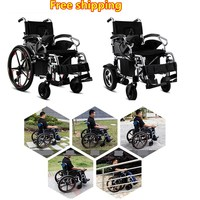 Power Wheelchair Battery Smart Drive Handicapped Elderly Electric Wheelchair With 12 Inch Wheel For Disabled People