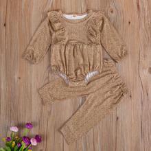 Pudcoco новорожденных для маленьких девочек одежда с длинным