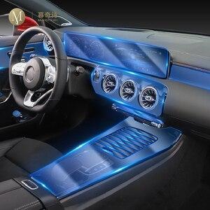 Image 1 - طبقة حماية شفافة من البولي يوريثان الحراري مضادة للخدش ، داخلية للسيارة Mercedes Benz A Class W177 A180 A200 A250 2019 2020