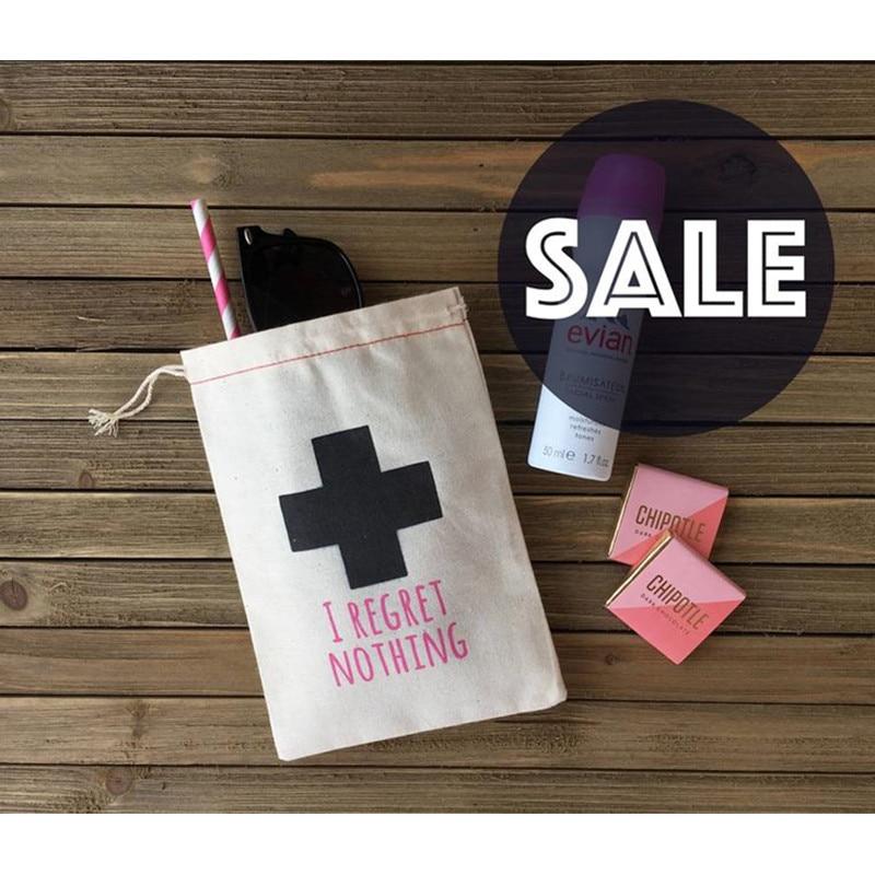 Hangovers Kit Bag Personalized Bachelorette Bag I Regret Nothing Groomsman Emergency Kit Hen Party Welcome Bag Wedding Gift Bags