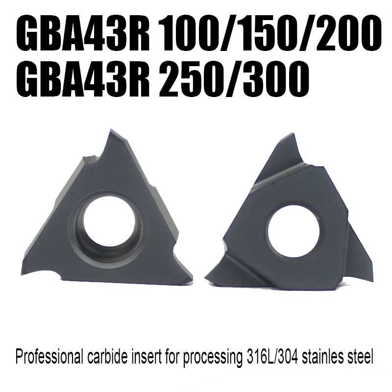 GBA43R 100/150/200/250/300 Enternal Turning Grooving Tool Carbid Insert Lathe Tools Process Stainless Steel And Common Steel