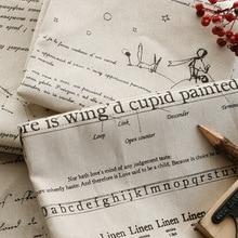 Английский алфавит льняная ткань кофе с надписями хлопок и лен ручной работы аксессуары декоративная подушка скатерть поставки