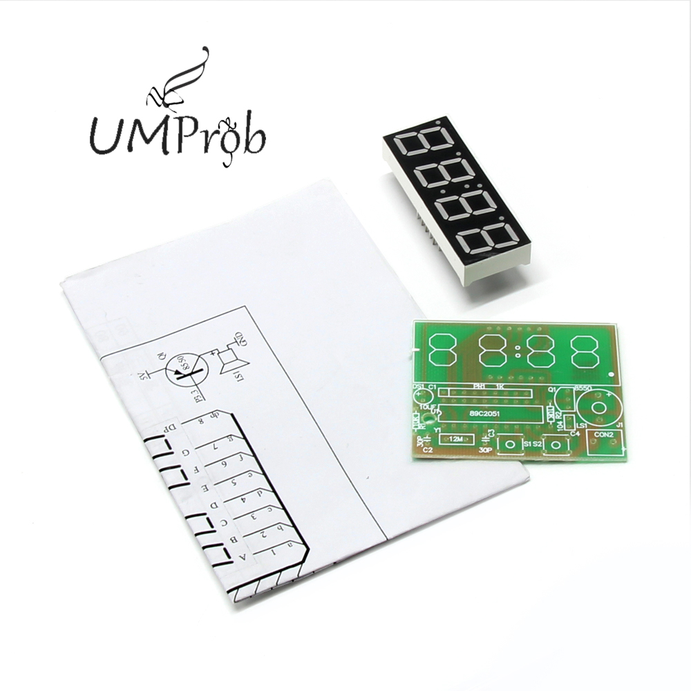 Image 3 - C51 Electronic Clock 4 Bits Electronic Clock Electronic Production Suite for school education lab DIY Kit-in Integrated Circuits from Electronic Components & Supplies