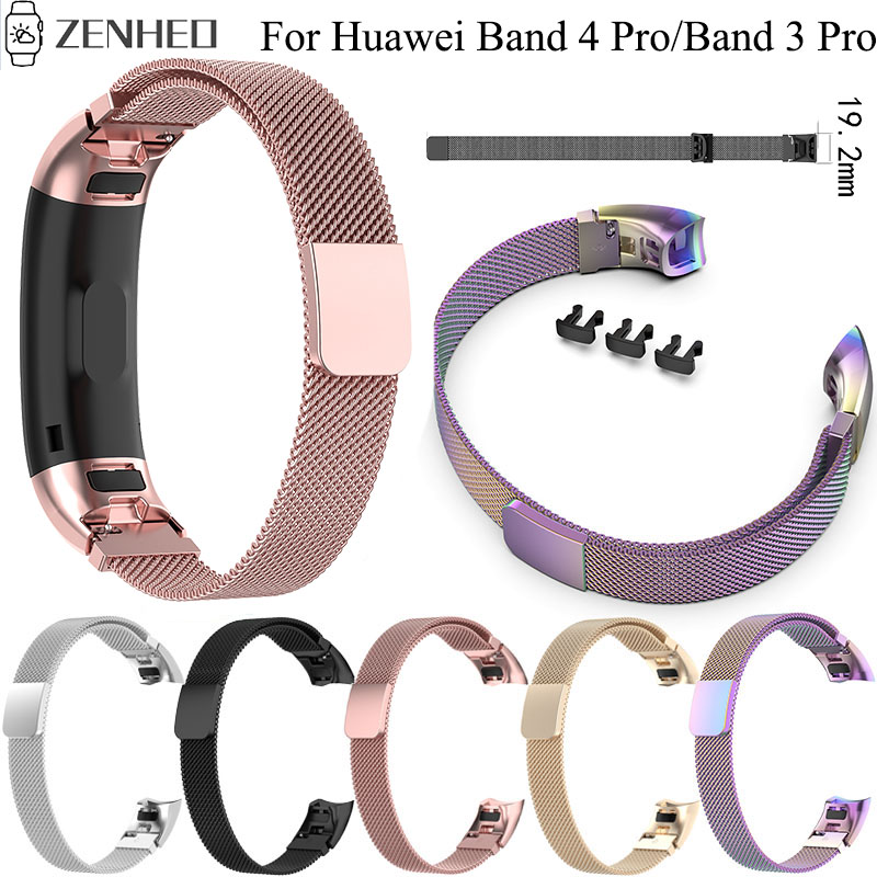 Stainless Steel Milanese Bracelet Strap For Huawei Band 4 Pro TER-B29S TER-B29 Watchband For Huawei Band 3 TER-B09 Watch Band
