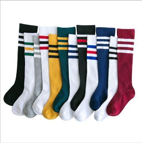 3Pairs/Lot 2020 Spring Three Bar Mesh Boys And Girls College Wind Kids Children Socks