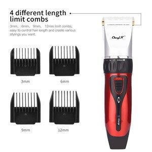 Image 2 - Profesjonalna maszynka do włosów maszynka do włosów akumulator ceramiczne ostrze ścinanie włosów golarka elektryczna dla mężczyzn broda z 4 grzebieniami granicznymi
