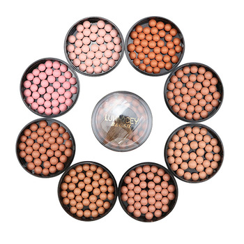 3 In 1 Makeup Face Matte Blusher Ball Eyeshadow Blush Contour Cosmetics Powder Balls 8 Colors Blush Palette