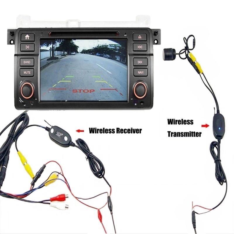 2,4 ГГц Беспроводная камера заднего вида передатчик приемник комплект для камеры заднего вида монитор RCA видео передатчик приемник