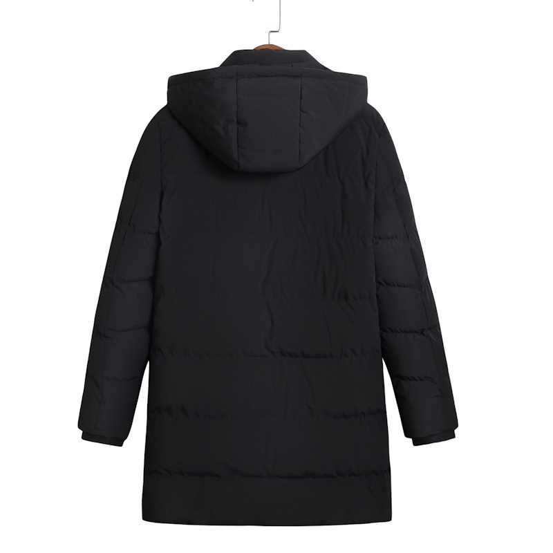 Ukuran Lebih Baru Musim Dingin Jaket Pria Sederhana Fashion Hooded Mantel Manset Desain Pria Termal Fashion Merek Parka 8XL 9XL 6XL