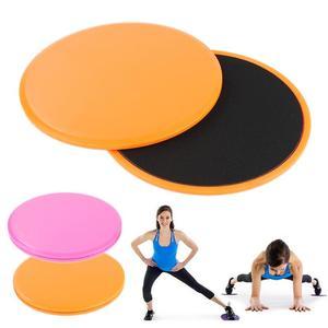 2PCS Fitness Disc Exercise Sliding Plate Gliding Discs Yoga Slider Fitness Disc Exercise Sliding Plate Yoga Training Exercise