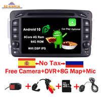 "Auf Lager 7 ""Android 10,0 Auto DVD Player Für Mercedes Benz CLK W209 W203 W463 W208 Wifi 3G GPS Bluetooth Radio Stereo audio media"