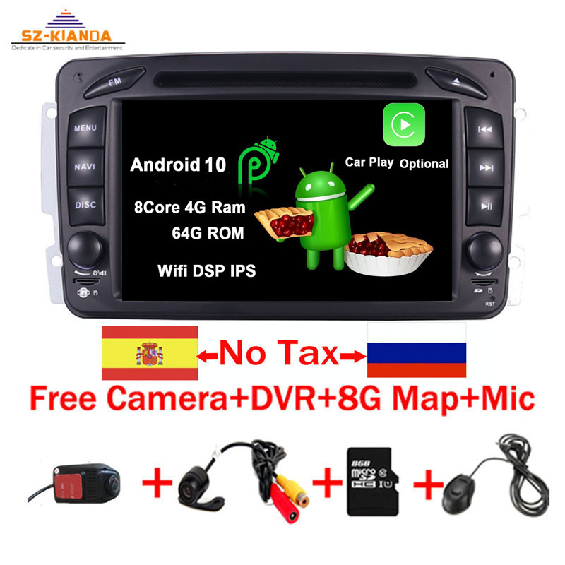 Autoradio For Mercedes Benz C//CLK//G Klasse W203 W209 W639 W463 Android 10 DAB+BT