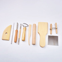 10pcs/set Sculpting Tool Pottery Tools Wood Handle Pottery Set Wax Carving Sculpt Smoothing Polymer Shapers Pottery Ceramic Tool 5pcs 8pcs carving moulding kit soft pottery tools knife diy professional wooden tool sculpting economic pottery sculpting tools