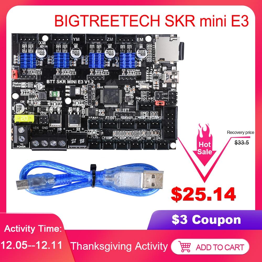 BIGTREETECH SKR Mini E3 V1.2 Control Board 32Bit With TMC2209 UART VS TMC2208 For Ender 3 Pro/5 SKR V1.3 E3 DIP 3D Printer Parts