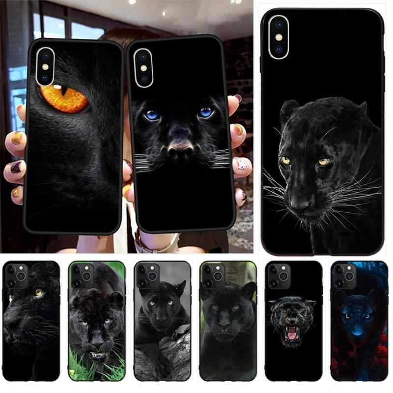 Animal Black Panther Customer High Quality Phone Case for iPhone 11 pro XS MAX 8 7 6 6S Plus X 5S SE 2020 XR case