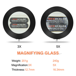 Image 3 - NEWACALOX Magnetic PCB Board Fixed Clip Flexible Arm Soldering Third Hand 5X Magnifier Glass Soldering Iron Holder Repair Tools