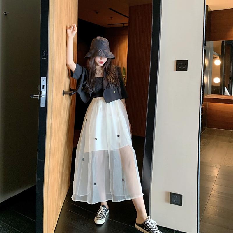 Photo Shoot 2019 WOMEN'S Dress Summer Short Suit Jacket + Sequin Mesh Dress Skirt Set
