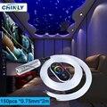 Светодиодный волоконно-оптический светильник звездного неба, декоративный автомобильный 6 Вт RGB двигатель, сенсорный пульт дистанционного ...